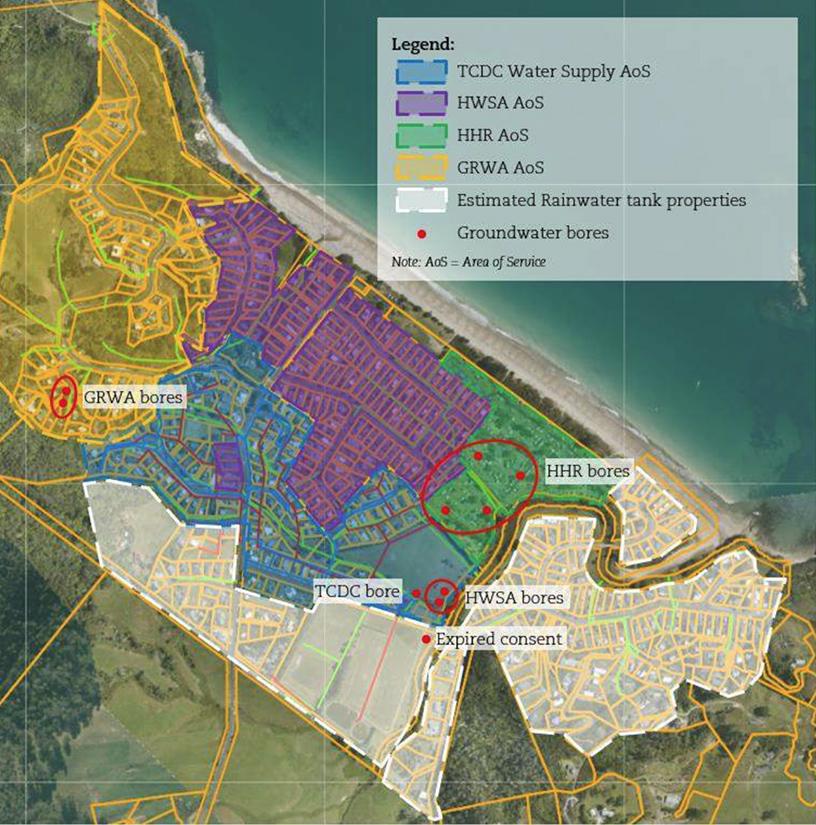Hahei Beach Coromandel Drinking Water Systems Map